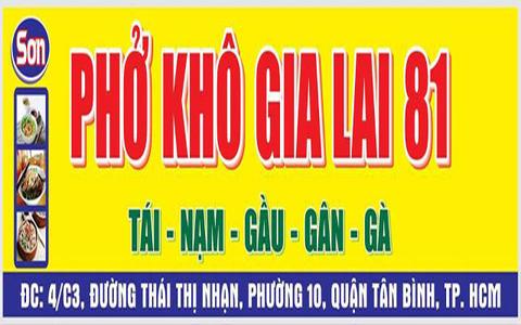 Tổng hợp các quán phở khô Gia Lai tại Sài Gòn