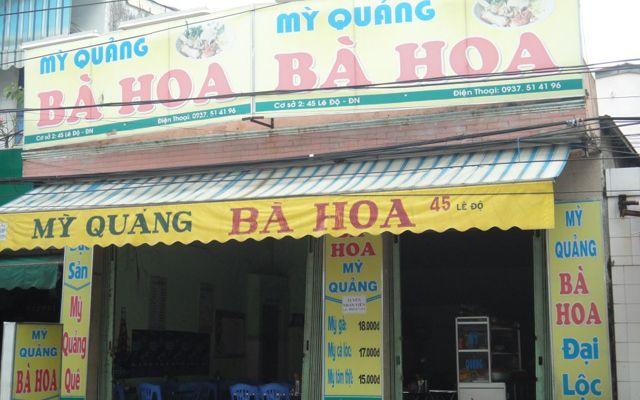 Mì Quảng Bà Hoa - Lê Độ ở Đà Nẵng