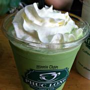 Tên món: Greentea Ice blendMô tả: trà xanh, whipping cream. Giá: 49.000 VND