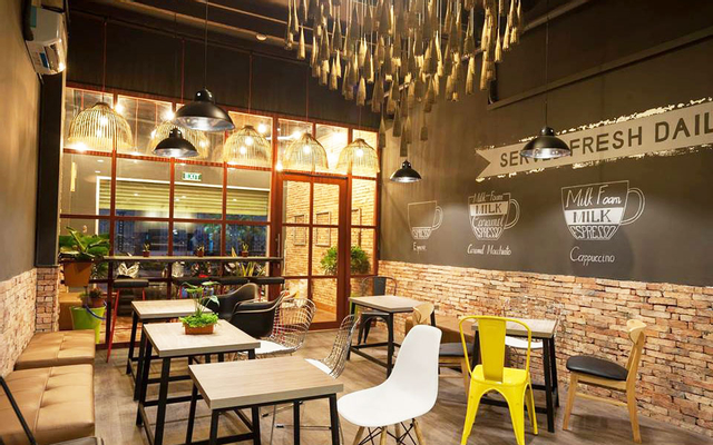 Giấy dán tường Hàn Quốc giá rẻ cho quán café TPHCM trang trí tiết kiệm chi phí
