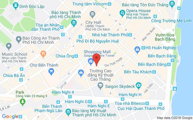 Bản đồ - Ember - Restaurant & Cafe - Saigon Centre