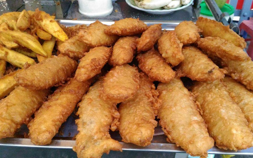 Image result for Bánh chuối chiên
