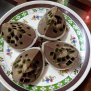 Bánh flan rau câu vị cacao