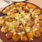 pizza tôm mật ong 3 loại viền