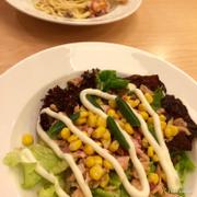 Salad tuna bacon