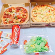 Cơn lốc hải sản + pizza thập cẩm