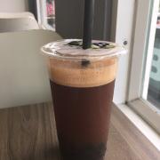 19/4/2016 Hồng trà trân châu + NS, NI + size L = 28k