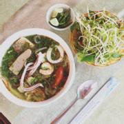 Bún Thái ăn sáng