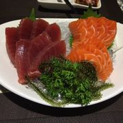 Sashimi cá hồi & cá ngừ