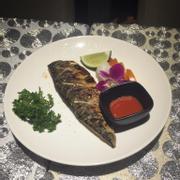 Cá saba nướng kèm cơm và soup miso