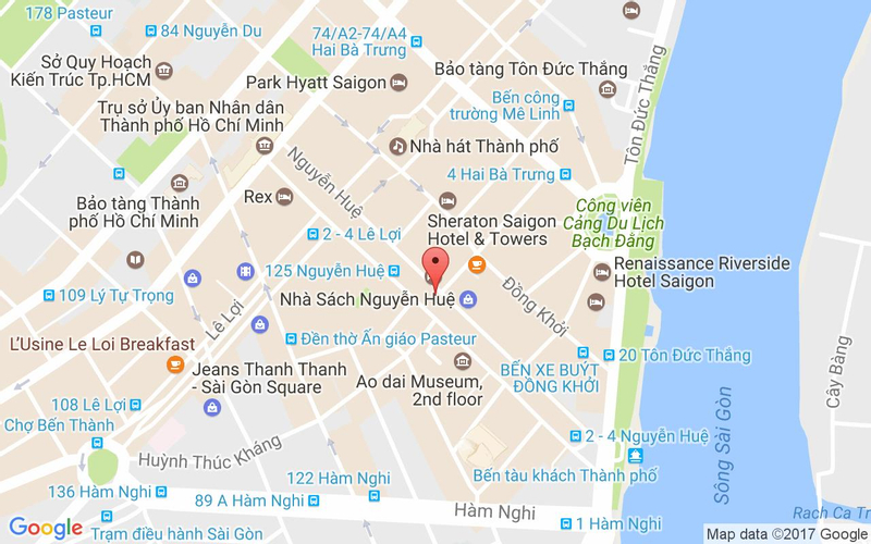 Bản đồ - Buffet Gánh - Palace Hotel Saigon