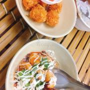 Phô mai hải sản và Trứng cút sốt chua ngọt