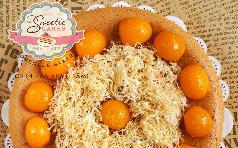 Bánh Bông Lan Trứng Muối - Sweetie Cakes - Shop Online - Hồng Lạc