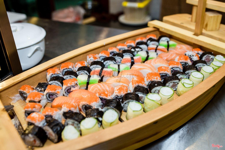 buffet trưa ngon, rẻ ở Hà Nội_Buffet Sen Xanh