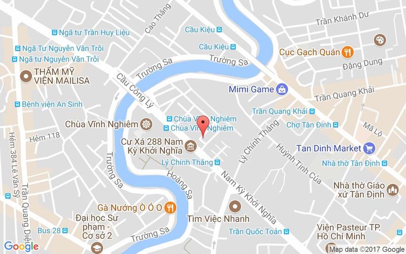 Bản đồ - PQ Bistro - Ẩm Thực Âu Việt