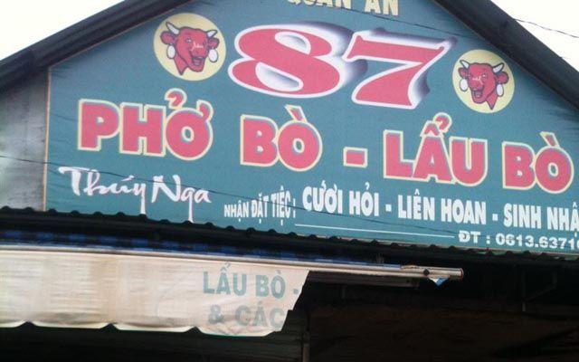 Phở Bò 87 ở Đồng Nai