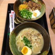 Mì Udon Tonkotsu và 1 mì Udon Bò & Trứng