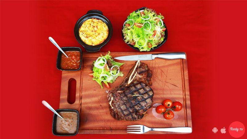 Steak sườn bò tươi khổng lồ New Zealand
